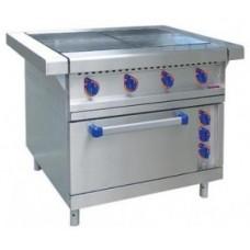 Плита промышленная электрическая Abat ЭП-4ЖШ-01(нерж.духовка)