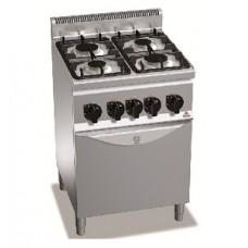 Плита газовая Bertos G6F4+FG1 (духовка газ)